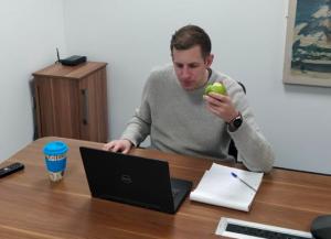 Me eating fruit from eatfruit.co.uk